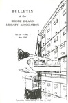 Bulletin of the Rhode Island Library Association v.39, no. 1