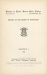 Annual Report 1932 by University of Rhode Island