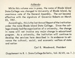 Annual Report 1949-1950 by University of Rhode Island